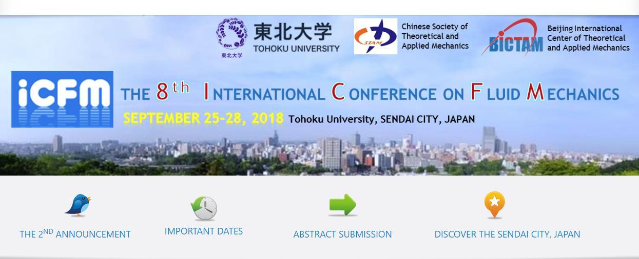 8th International Conference on Fluid Mechanics (September 25-28